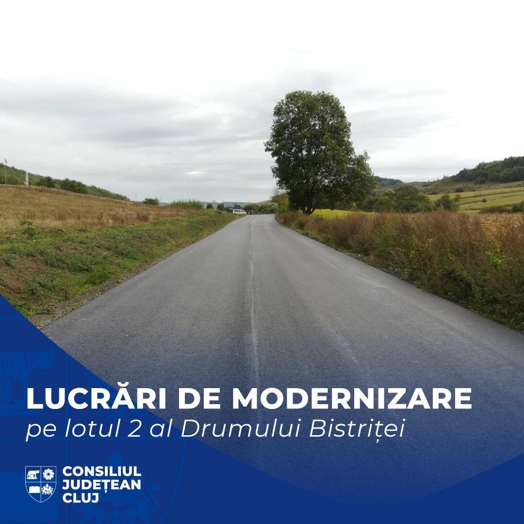 Lucrările de modernizare derulate pe lotul 2 al Drumului Bistriței au intrat în faza de așternere a stratului de uzură