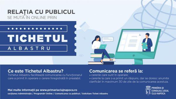 Primăria Cluj-Napoca lansează Tichetul Albastru