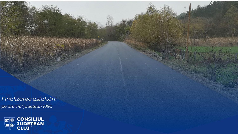 A fost finalizată asfaltarea drumului județean ce traversează localitatea Fizeșu Gherlii