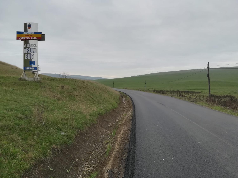 Drumul județean 150, de la Viișoara la Mociu, a fost complet asfaltat