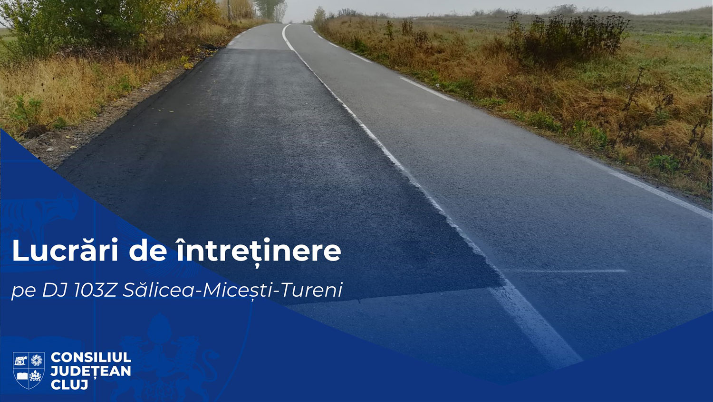 Lucrări de întreținere pe drumul județean 103Z Sălicea – Micești – Tureni