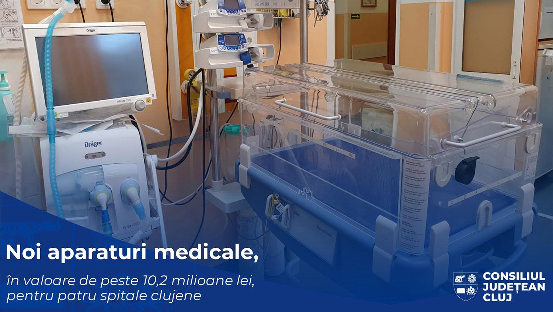 Noi dotări de ultimă generație, în valoare de peste 10,2 milioane de lei, pentru patru spitale clujene