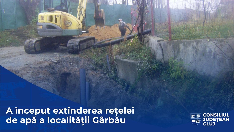 Au început lucrările de extindere a rețelei de apă a localității Gârbău