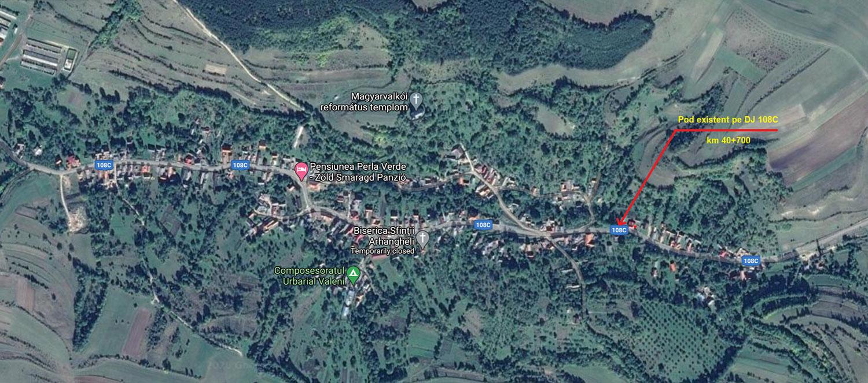 Consiliul Județean va reconstrui podul din satul Văleni, comuna Călățele