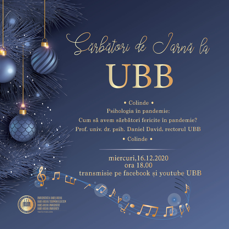 Sărbători de iarnă la Universitatea Babeș-Bolyai