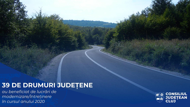 39 de drumuri județene au beneficiat de lucrări de modernizare sau întreținere în cursul anului 2020