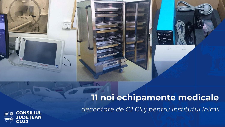 Consiliul Județean Cluj a finanțat achiziționarea a 11 echipamente medicale pentru Institutul Inimii Niculae Stăncioiu