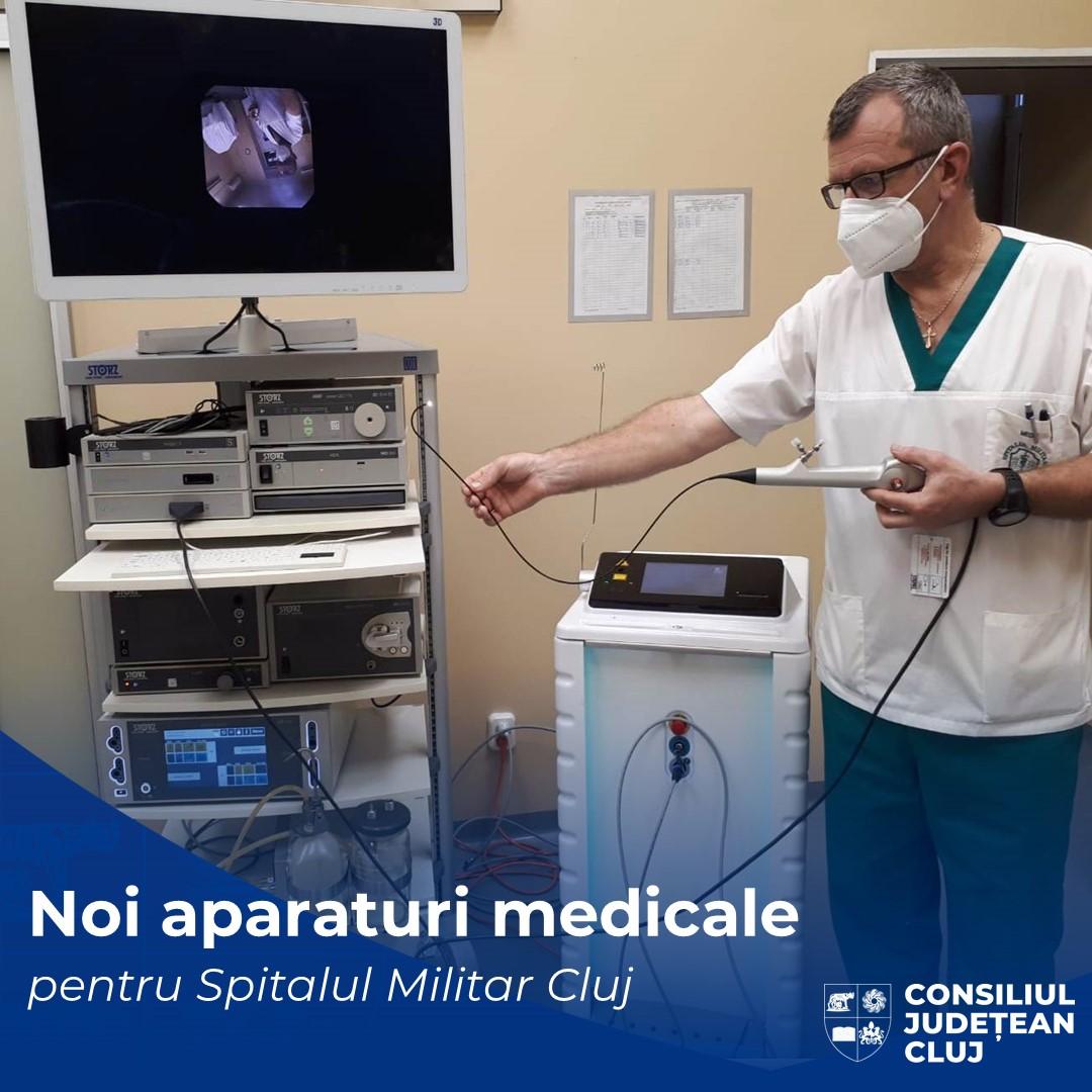 Noi dotări medicale pentru Spitalul Militar de Urgență Doctor Constantin Papilian din Cluj-Napoca
