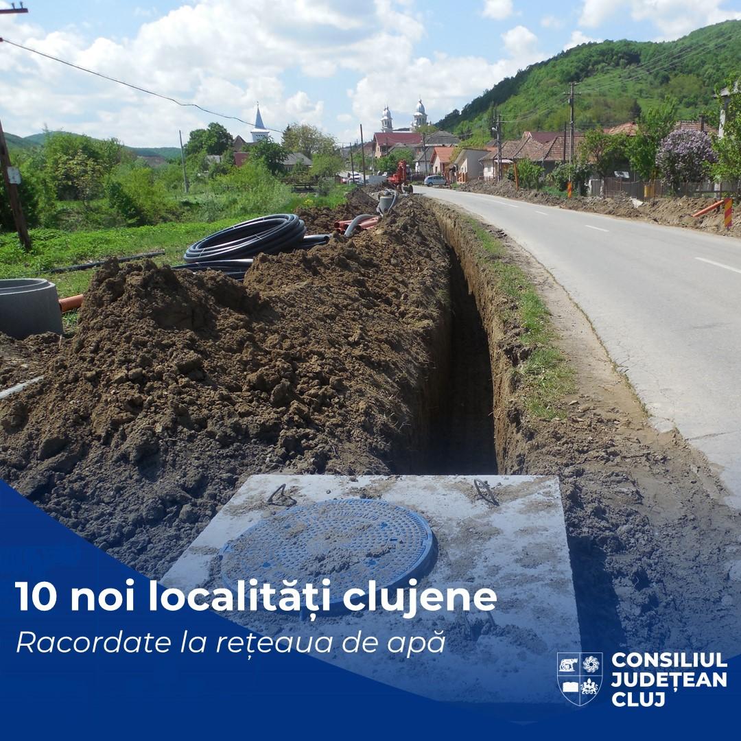 10 noi localități clujene vor avea rețele publice de apă