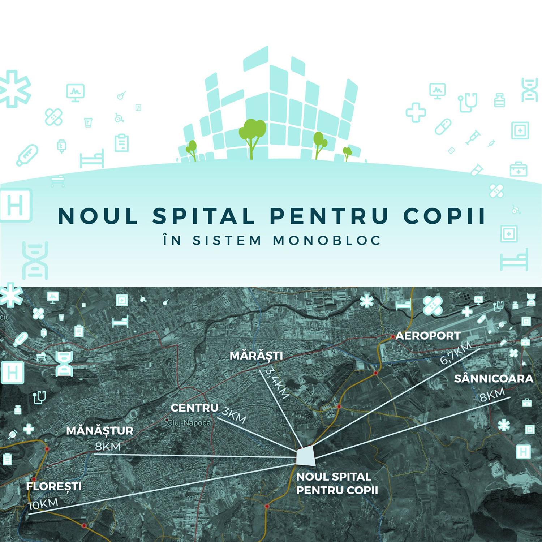 Consiliul Județean Cluj a lansat concursul internațional de soluții pentru proiectarea Spitalului Pediatric Monobloc