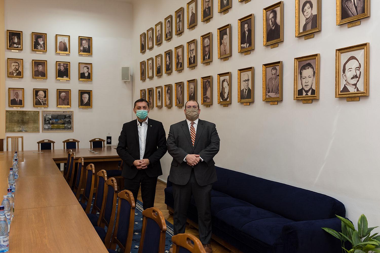 Delegație a Ambasadei SUA în România la Universitatea Babeș-Bolyai din Cluj-Napoca