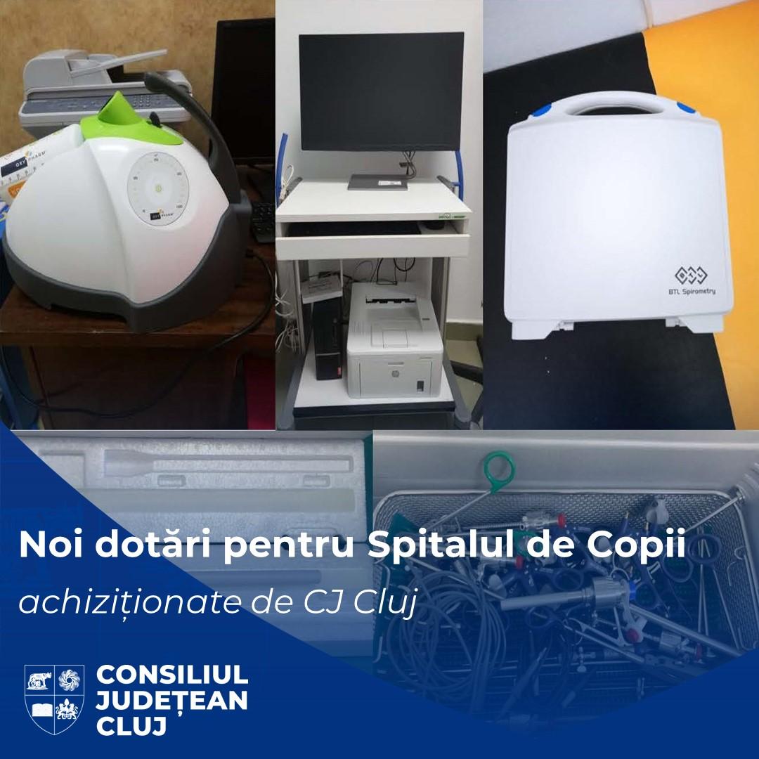 Noi dotări medicale de ultimă generație achiziționate de Consiliul Județean Cluj pentru Spitalul Clinic de Urgență pentru Copii