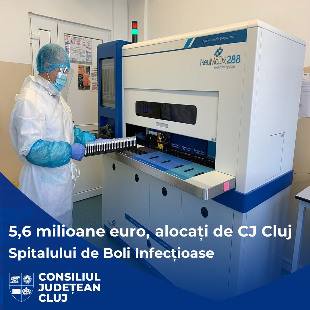 Peste 5,6 milioane de euro, alocați de Consiliul Județean Cluj în ultimii ani pentru Spitalul de Boli Infecțioase