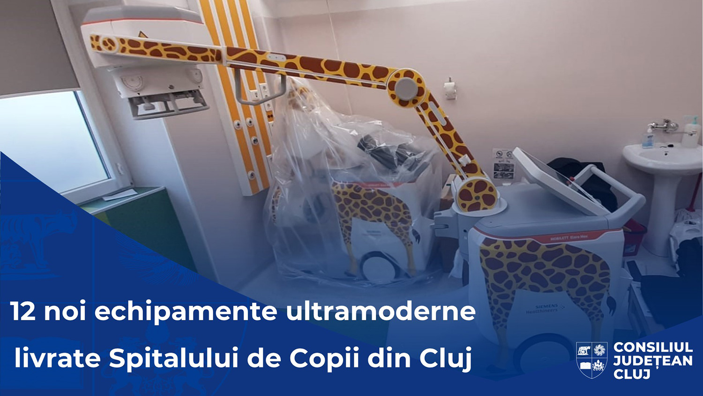 12 noi echipamente medicale de înaltă tehnologie, în dotarea Spitalului Clinic de Urgență pentru Copii din Cluj-Napoca