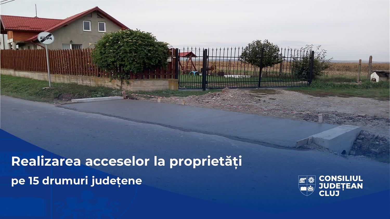 Consiliul Județean a reluat lucrările de realizare a acceselor la proprietăți,  pe mai multe drumuri județene