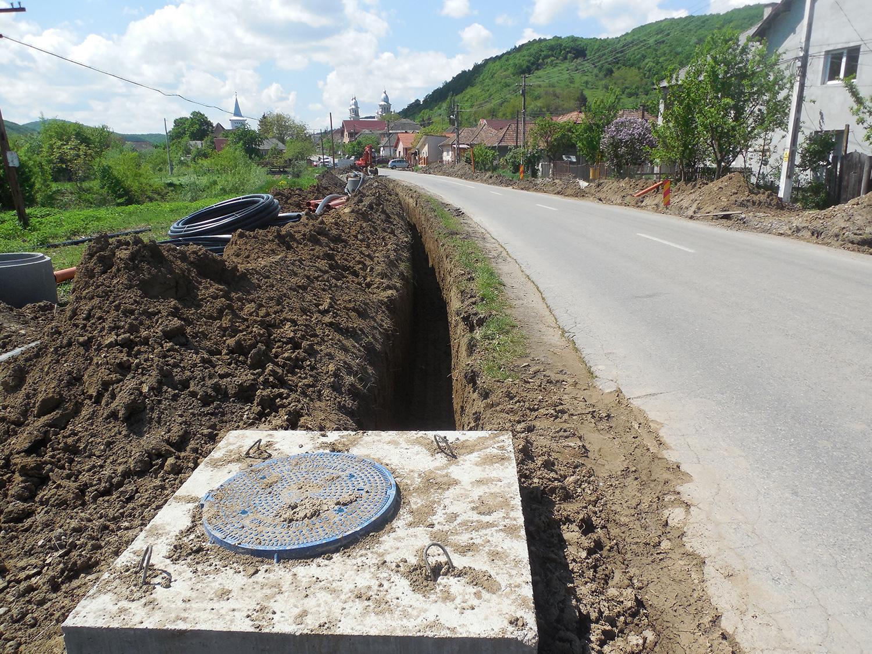 Noi investiții în infrastructura de apă, în patru sate ale comunei Aghireșu