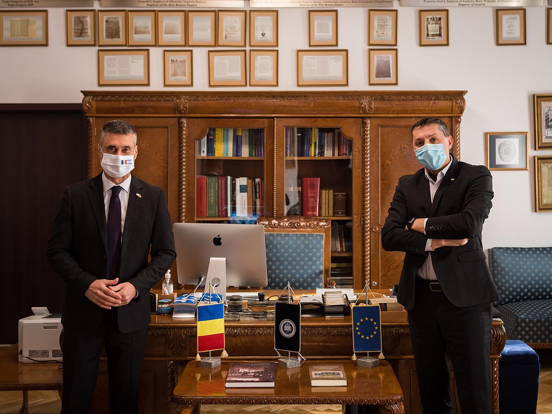 Rectorul Universității Babeș-Bolyai și ambasadorul Israelului în România au analizat și stabilit direcții de colaborare academică strategică
