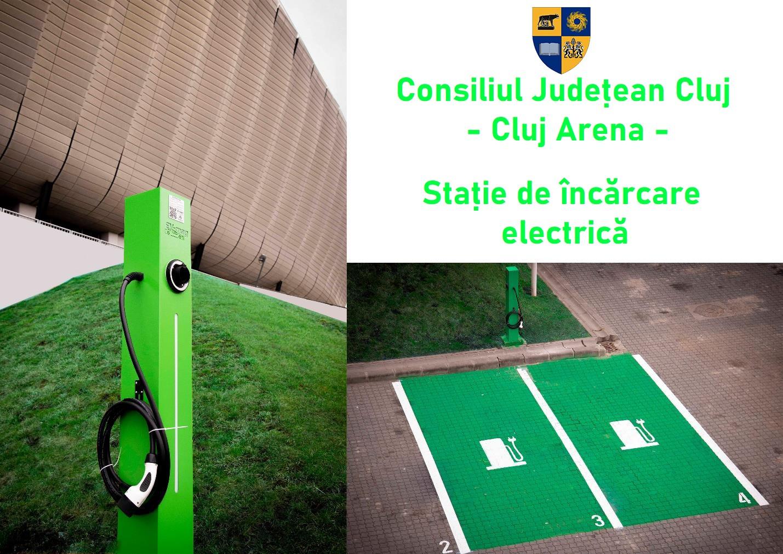Stație de încărcare electrică pentru autoturisme, la Cluj Arena