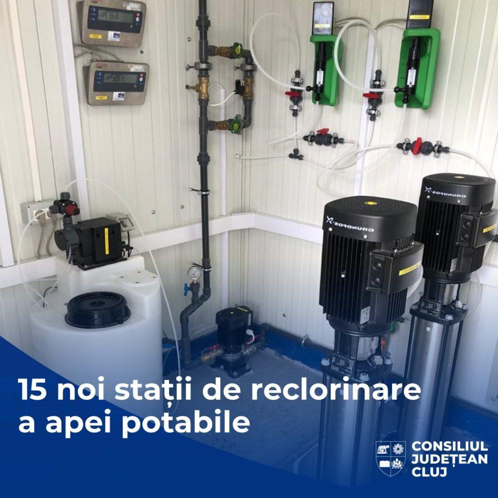 15 noi stații de reclorinare pentru o apă sigură și de calitate