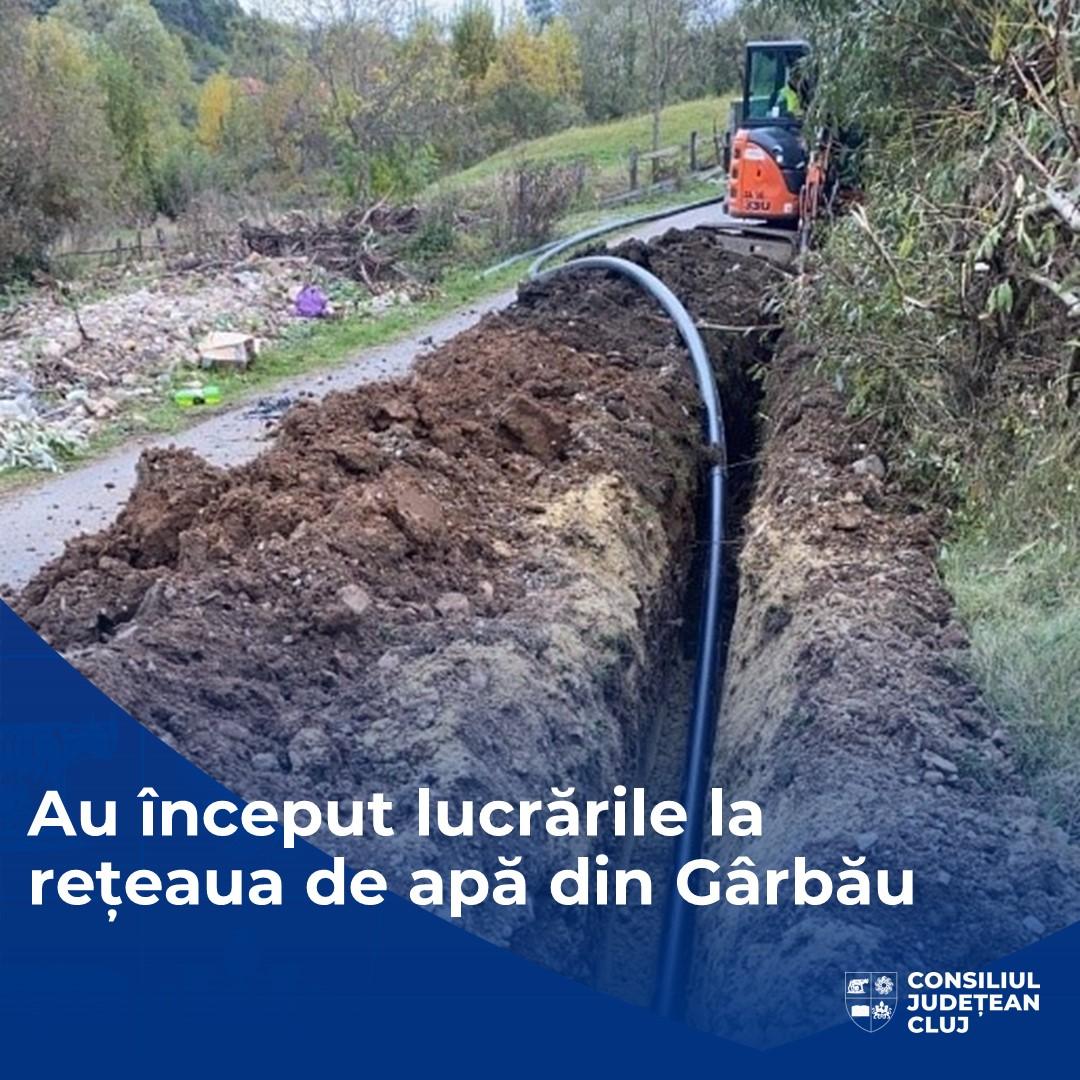 Au început lucrările de alimentare cu apă a comunei Gârbău