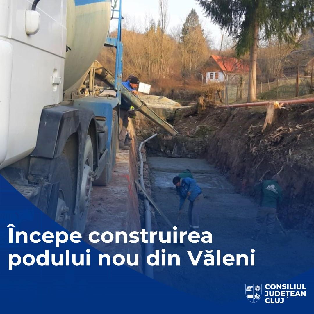 Consiliul Județean începe demolarea vechiului pod de pe drumul județean 108C, din Văleni, în vederea construirii unuia nou