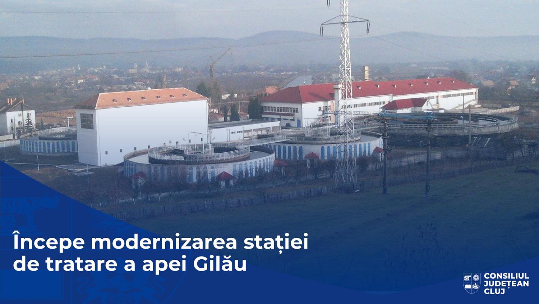 Încep lucrările de modernizare, cu fonduri europene, a stației de tratare a apei din Gilău