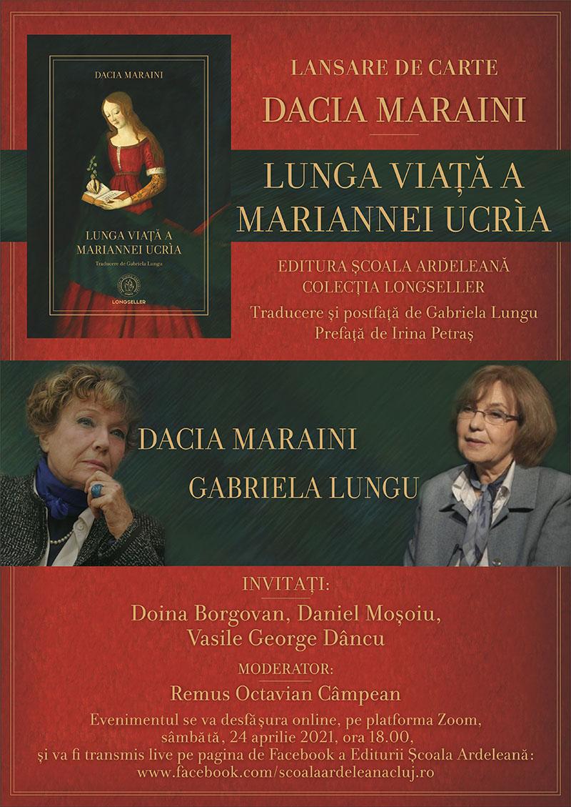 Lunga viață a Mariannei Ucria de Dacia Maraini