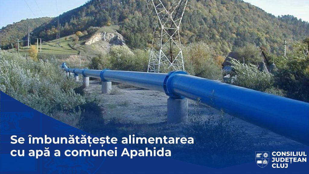 Se îmbunătățește serviciul de alimentare cu apă a comunei Apahida