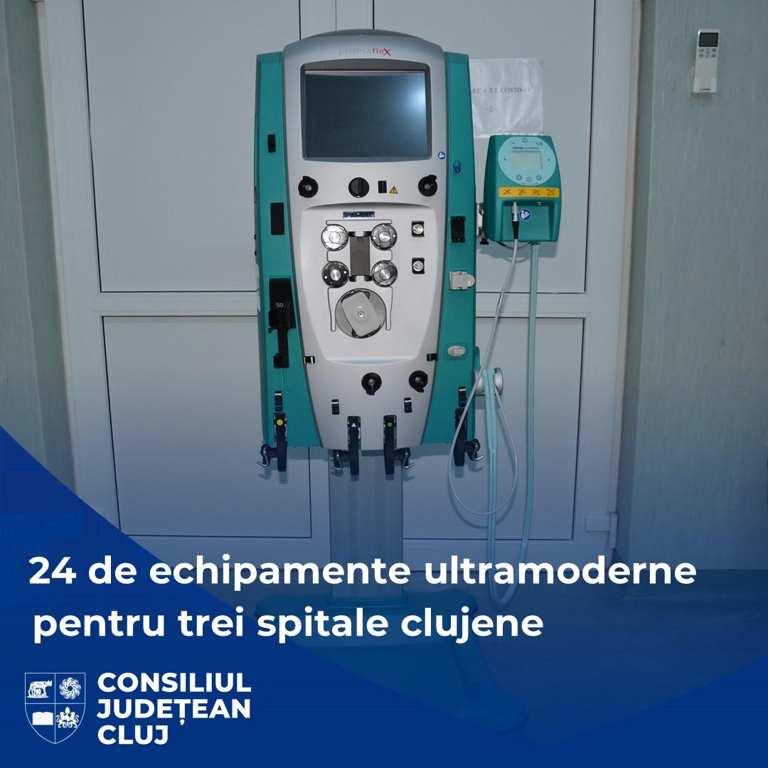 Trei spitale clujene au fost dotate cu peste 20 de noi echipamente medicale ultramoderne