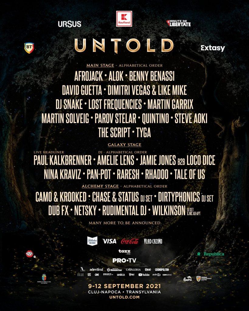 The Script, Parov Stelar și Tyga live pe mainstage-ul UNTOLD (2021)