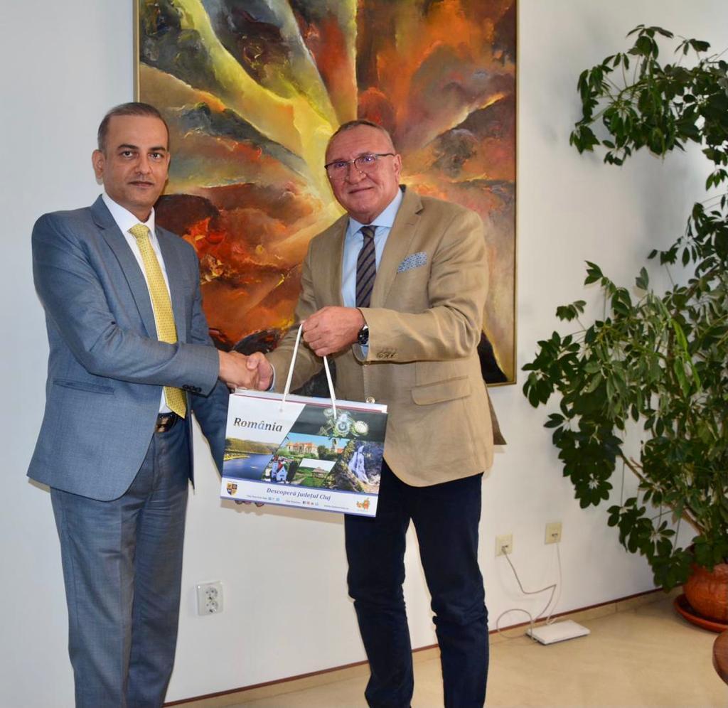 Ambasadorul Indiei în România, în vizită la Consiliul Județean Cluj