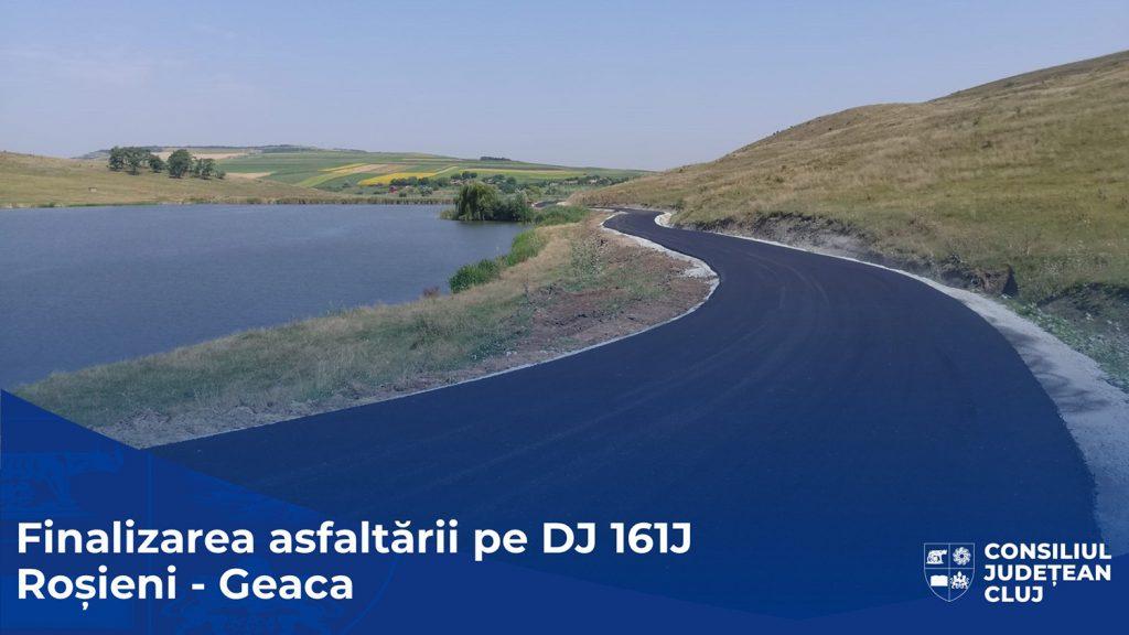 Consiliul Județean a finalizat asfaltarea drumului județean 161J Roșieni - Geaca