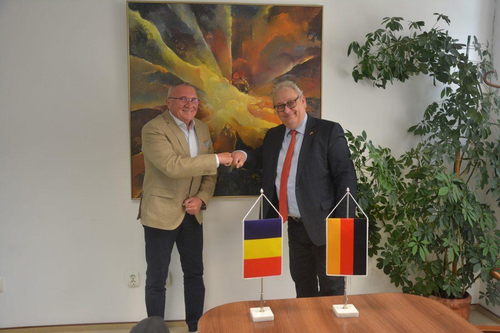 Delegație oficială germană, în vizită la Consiliul Județean Cluj