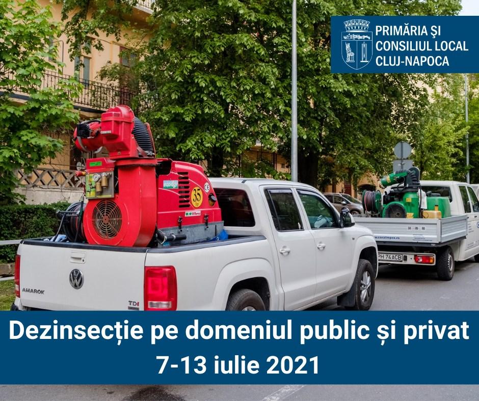 O nouă etapă de dezinsecție în municipiul Cluj-Napoca