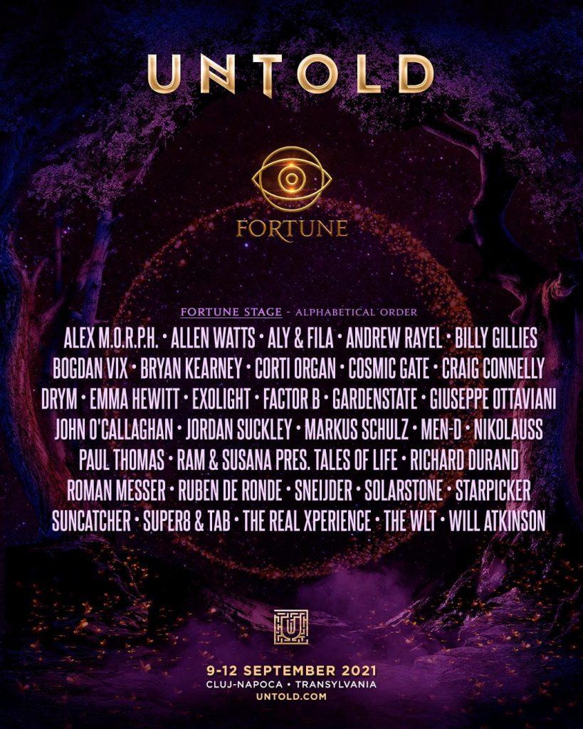 Artiști de top ai muzicii trance pe scena Fortune de la UNTOLD