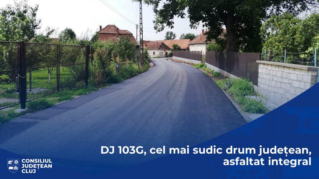Cel mai sudic drum din județul Cluj e asfaltat integral